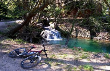 Marathon cycling in nature C