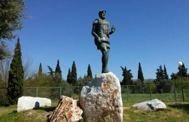 Marathon: statue of Miltiades