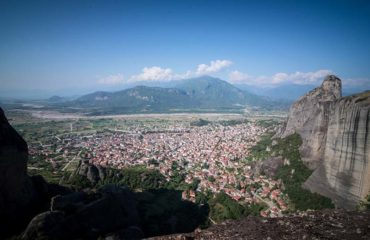 Kalabaka city view from Meteora