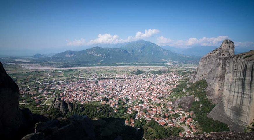 Kalabaka city view from Meteora