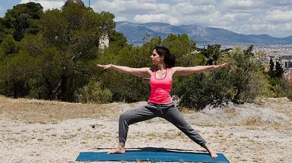 Yoga at Filopappou hill