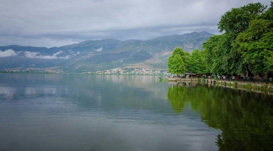 Pamvotida lake at Ioannina