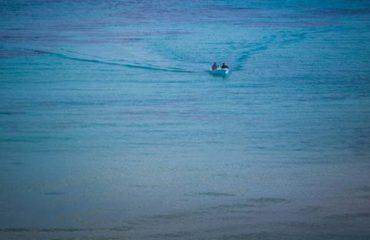 Aegina - A small boat into the sea