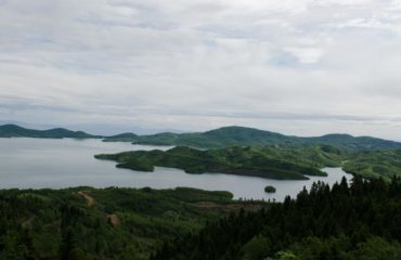 Plastira lake form above